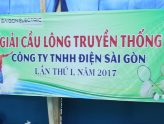 The first badminton tournament of Saigon Electric Co., Ltd. - 2017